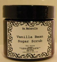 Vanilla Bean Sugar Scrub      All Natural      Two by aunaturelle, $8.00