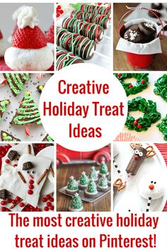 Super cute creative holiday treat ideas! Easy to make and delicious to eat!