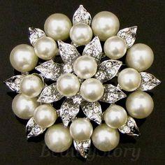 ADD'L Item FREE SHIPPING rhinestone crystal flower brooch pin bouquet | eBay