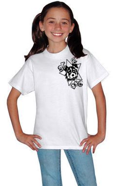 Lucky Dog Girls Tee by STAR DOG.  Buy this t-shirt and Star dog gives an identical t-shirt to a child in need.  www.StarDogGives.com
