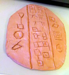 how to make a cuneiform tablet, with questions to think about as you work