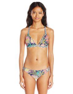 8b7860534fc08 Amazon.com: Body Glove Women's Wanderer Reversible Flare Halter Bikini Top,  Midnight Multi