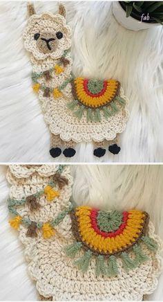 Lama Applique crochet pattern - Love Crochet - knitting is as easy as . - Lama Applique crochet pattern – Love Crochet – knitting is as easy as 3 Knitting boils do - Appliques Au Crochet, Crochet Motifs, Crochet Flower Patterns, Crochet Flowers, Crochet Stitches, Crochet Squares, Knitting Patterns, Crochet Applique Patterns Free, Easy Knitting