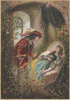 Sleeping Beauty Illustration by E. Disney Illustration, Antique Illustration, Beauty Illustration, Sleeping Beauty Art, Poster Shop, Classic Fairy Tales, Briar Rose, Fairytale Art, Disney Art