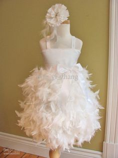 Cheap dresses gowns uk, Buy Quality gown party dress directly from China dress wedding gown Suppliers: Little Girl Dress Scoop Neck Spaghetti Feathers Satin White Ball Gown Flower Girl Dress with Bow Cheap Flower Girl Dresses, Little Girl Dresses, Cheap Dresses, Flower Girls, Girls Dresses, Glitz Pageant Dresses, Party Dresses, Pagent Dresses, Prom Dress