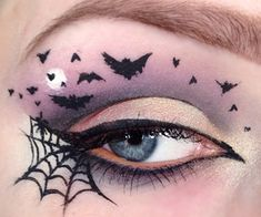 Bats and spider web eye makeup via weheartit.com