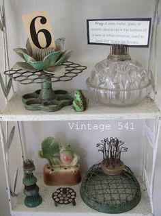 flower frogs ~~ from Vintage 541: What do You Collect?