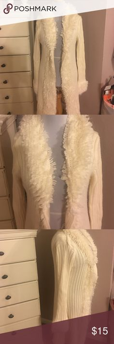 Cato Cardigan Sweater XL Pretty Cato Cardigan sweater. Size XL warm very soft. Has been worn no tears or stains. Color is cream Cato Sweaters Cardigans