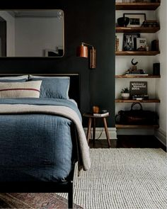 This is a Bedroom Interior Design Ideas. House is a private bedroom and is usually hidden from our guests. However, it is important to her, not only for comfort but also style. Much of our bedroom … Man Room, Home Decor Bedroom, Design Bedroom, Mens Room Decor, Stylish Bedroom, Modern Mens Bedroom, Contemporary Bedroom, Bedroom Interiors, Bedroom Colors