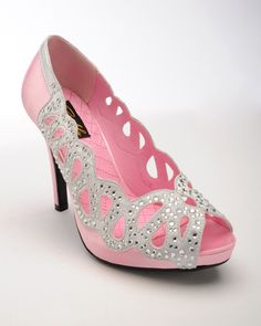 Vintage Style Ava Pump with Rhinestone Cutout | Pinup Girl Clothing