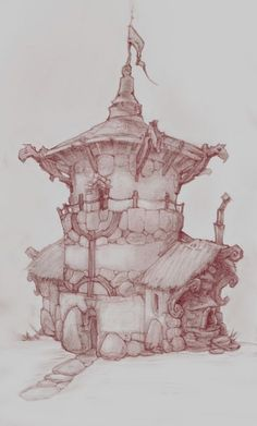 ArtStation - Disney Interactive Studios - Concept art (some very old faves) Oliver Chipping Landscape Concept, Landscape Art, Art Sketches, Art Drawings, Drawing Faces, Disney Character Drawings, Disney Drawings, Environment Sketch, Chateau Medieval