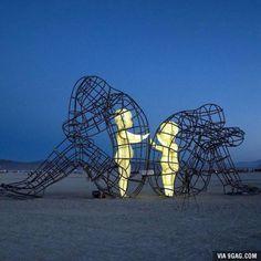 Amazing art found on the beach. :)