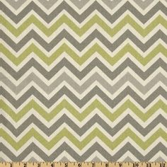 Dove Grey, Sage and Natural Chevron Table Runner - Weddings, Party decor, Home, Decor Childrens room -Customizable. $18.00, via Etsy.