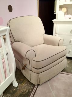Georgian Recliner. #glider #nursery #baby #georgiababy #atlanta #furniture & Best Chairs - Benji swivel glider recliner shown in burlap. | Baby ... islam-shia.org