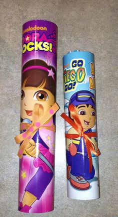 I like the idea of giving a book for party favores. Dora Birthday party favor for girls and boys.