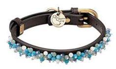 Dosha Dog Mini Beads turquoise collar