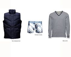 THE CLASSIC: Navy blue stripped knit!  #bodywarmer #trunks #knit #blue #outfit #men #style #fashion #trend #stripes