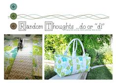 Garden Party Duffel Bag By Diane Stanley #fabric #crafting #sewing @Modern Yardage @ylmommyx4