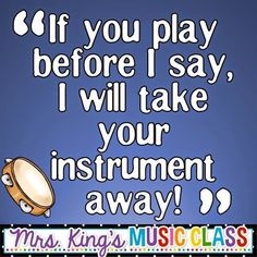 Mrs. King's Music Room: Rhythm Instruments: Cutting Down on the Chaos Great tips for using instruments in regular and music classrooms.