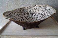 Handmade Caramic Serving/Decorative Bowl Unique Dish by SevaArt