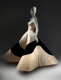 "Charles James (American, born Great Britain, 1906–1978). ""Clover Leaf"" Evening Dress, 1953. The Metropolitan Museum of Art, New York. Gift of Elizabeth Fairall, 1953 (C.I.53.73) #CharlesJames"