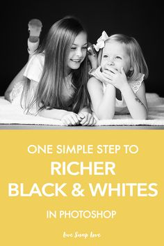 A quick little editing tutorial for you today, showing you how you can convert your images to a richer black and white in Photoshop. It's so…