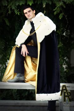 This King's royal robe was inspired by some of the beautiful coronation robes worn by royalty throughout history. No detail was overlooked in the construction of this high-quality masterpiece. Use it as a decadent King's costume to command adoration at events, such as a Medieval faire or cosplay convention, or use it as the key accessory to your royal-themed wedding. Regardless of where this majestic King's cloak is worn, you will truly feel like royalty while wearing it!