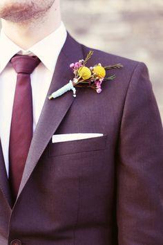 groom burgundy tie, image by Rebecca Wedding Photography http://www.rebeccaweddingphotography.co.uk/
