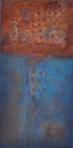 Edelrost, rust, Rost, Acryl, Acrylmalerei, abstrakte Malerei, 100 x 50 x 3 cm, Raut-Malerei