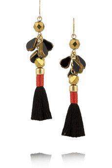 J.Crew Gold-tone tassel earrings | NET-A-PORTER