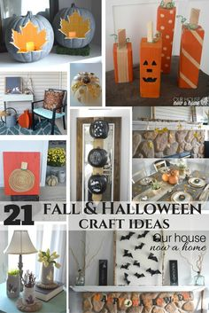 21 DIY fall and Halloween craft ideas, low cost and simple ways to decorate the home for the season!