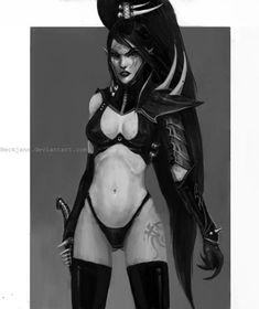 Dark Eldar: Succubus Arsaette by Beckjann.deviantart.com on @deviantART