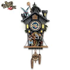 Wizard Of Oz Wall Clock With Lights, Sound And Motion