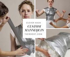 You will love this Duct Tape Mannequin Tutorial that shows you how to make the perfect custom shape for your size. This is perfect for creating patterns. Kids Videos, Craft Videos, Duct Tape Clothes, Diy Clothes, Manequin, Fun Worksheets, Easy Video, Sewing Hacks, Sewing Ideas