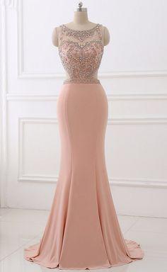 Spandex Evening Dress Erosebridal Simply Beading Mermaid Vestido