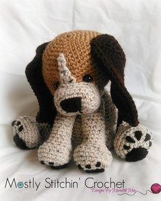 Rusty the Beagle Pup CROCHET PATTERN PFD by MostlyStitchin on Etsy