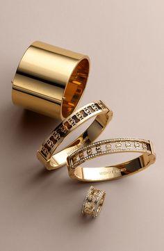 Michael Kors 'Monogram' Bracelet, Cigar Band Ring Set..