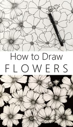 flower art Flower drawing is killing it on social media. Learn how to draw any flower you like with this easy tutorial for ALL levels with MANY examples. Easy People Drawings, Easy Doodles Drawings, Easy Flower Drawings, Easy Disney Drawings, Flower Drawing Tutorials, Pencil Drawings Of Flowers, Flower Sketches, Art Tutorials, Drawing Sketches