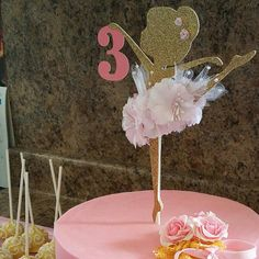 Ballerina Cake Topper Ballerina Birthday by MemoryKeepsakeParty