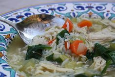 Homemade Chicken and Rice soup- yes please!!
