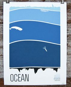 Ocean Print by Brainstorm Print and Design on Little Paper Planes