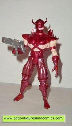 Toy Biz action figures for sale to buy: X-MEN / X-FORCE series 1995 ERIC THE RED 100% COMPLETE Condition: Overall excellent. displayed only Figure size: approx. 5 inch --------------------------------