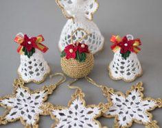 24 copos de crochet SET de 24 árbol de por SevisMagicalStitches