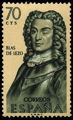 Stamp: Blas de Lezo (Spain) (Discovery of America) Mi:ES Colnect, connecting collectors. Postage Stamps, Discovery, Spain, Statue, The World, Spanish Armada, Sculpture, Stamps