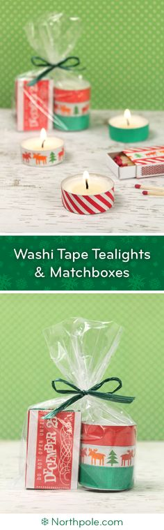 Washi Tape Tealights & Matchboxes | Northpole.com Craft Cottage