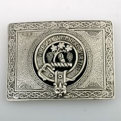 Pewter Clan Belt Buc
