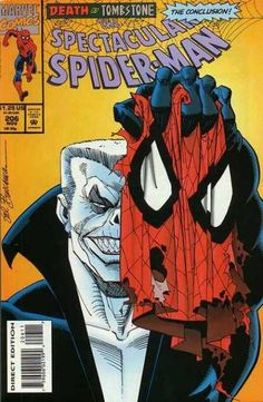 """classickcomicbookstash: """" The Spectacular Spider-Man The conclusion to """"Death by Tombstone"""" """" Cover by the master Sal Buscema. Marvel Comics Superheroes, Marvel Comic Books, Comic Book Heroes, Marvel Characters, Comic Books Art, Comic Art, Book Cover Art, Comic Book Covers, Sal Buscema"""