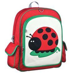 Big Kid Backpack- Juju via Tresor Back To School Backpacks, Girl Backpacks, Red Backpack, Fashion Backpack, Kind Mode, Baby Gear, Big Kids, Peacock, Diaper Bag