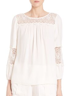 Coastal Embroidered-Lace Top by Joie