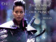 Loving OUAT's Mulan, but man my girl needs some happiness! Where's Shang? Phillip died on her!